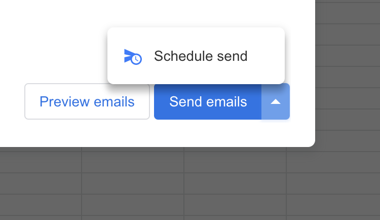 Scheduling a mail merge in Gmail with Mailmeteor