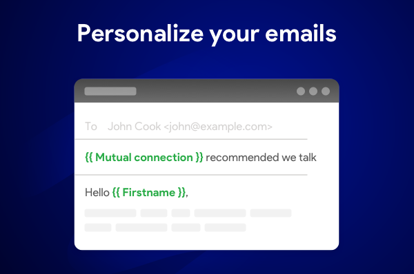 Mail merge tip: personalize your emails