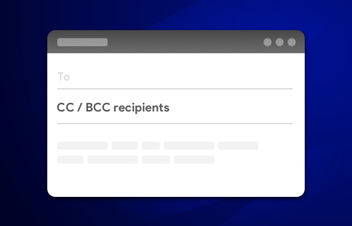 Add Cc or Bcc to mail merge in Gmail